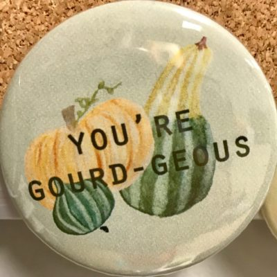 button with gourds